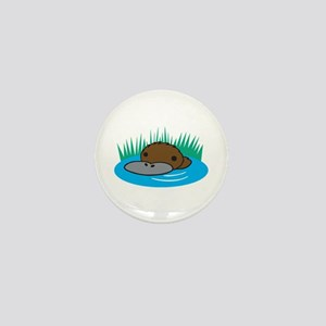 Silly Platypus in the Water Mini Button