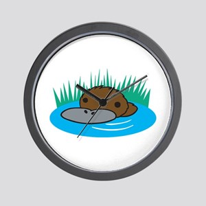 Silly Platypus in the Water Wall Clock