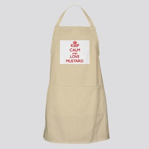 Keep calm and love Mustard Apron