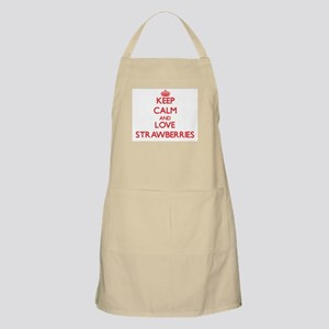 Keep calm and love Strawberries Apron
