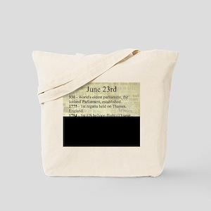 June 23rd Tote Bag