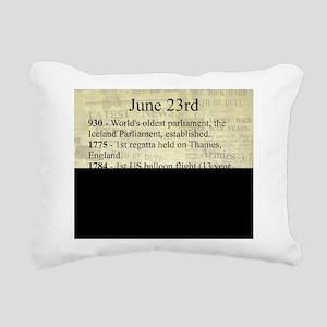 June 23rd Rectangular Canvas Pillow