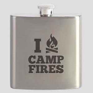 I Love Campfires Flask