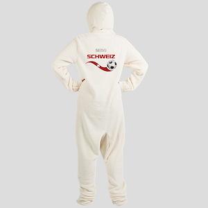 Soccer 2014 SCHWEIZ Footed Pajamas