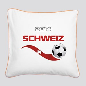 Soccer 2014 SCHWEIZ Square Canvas Pillow
