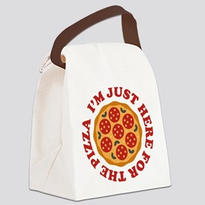 I'm Just Here For The Pizza Canvas Lunch Bag