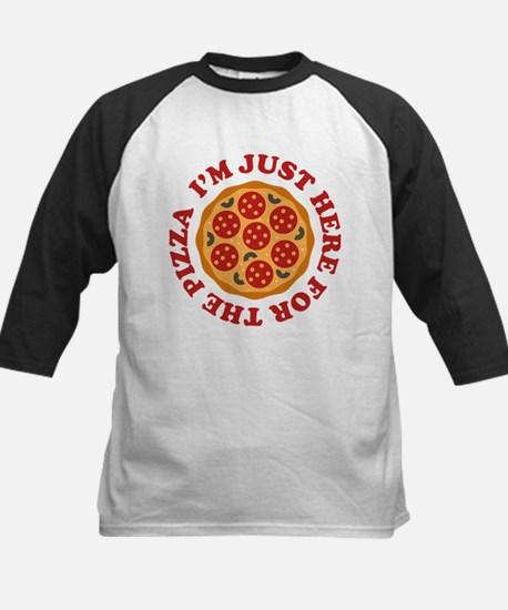 I'm Just Here For The Pizza Kids Baseball Jersey
