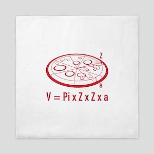 Pizza Equation Queen Duvet