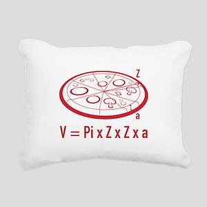 Pizza Equation Rectangular Canvas Pillow