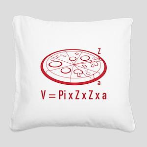 Pizza Equation Square Canvas Pillow