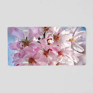 Japanese Cherry Blossoms Aluminum License Plate