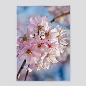 Japanese Cherry Blossoms 5'x7'Area Rug