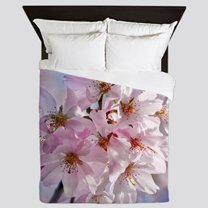 Japanese Cherry Blossoms Queen Duvet