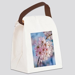 Japanese Cherry Blossoms Canvas Lunch Bag