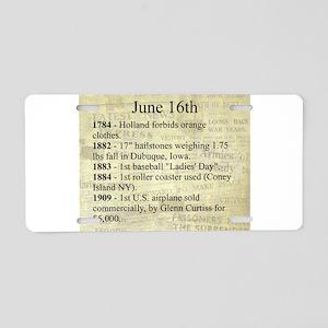 June 16th Aluminum License Plate