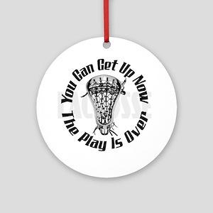 Lacrosse_Smack_PlaysOver_Bak_600 Ornament (Round)