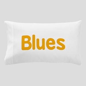 Blues word orange yellow music design Pillow Case