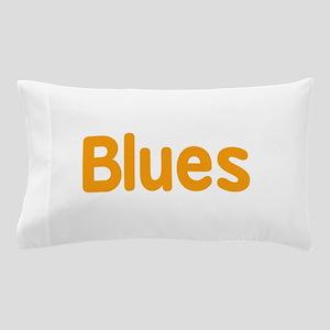 Blues word orange music design Pillow Case