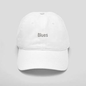 Blues word grey music design Baseball Cap