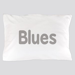 Blues word grey music design Pillow Case