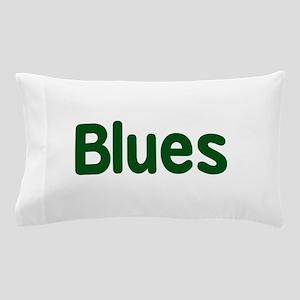 Blues word green music design Pillow Case
