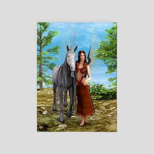 Fairy and Unicorn 5'x7'Area Rug