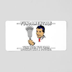 Lacrosse_Humor_FundaDouche_600 Aluminum License Pl