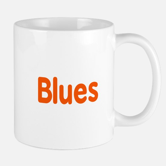 Blues word orange music design Mugs
