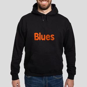 Blues word orange music design Hoodie