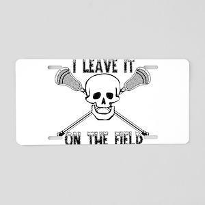Lacrosse I Leave It On the Aluminum License Plate