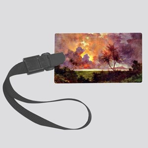 Sunrise over Diamond Head Large Luggage Tag