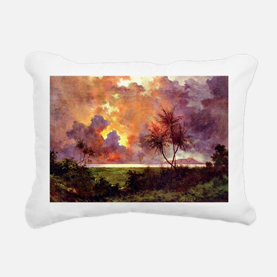 Sunrise over Diamond Hea Rectangular Canvas Pillow