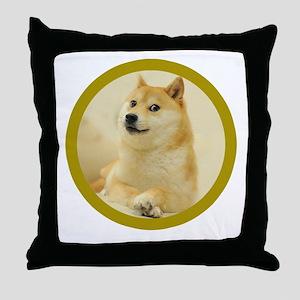 shibe-doge Throw Pillow