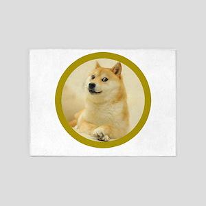 shibe-doge 5'x7'Area Rug