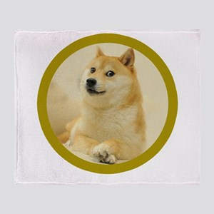 shibe-doge Throw Blanket