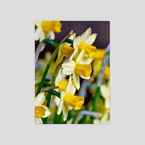 Yellow Daffodils 5'x7'Area Rug