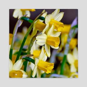 Yellow Daffodils Queen Duvet