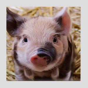 sweet little piglet 2 Tile Coaster