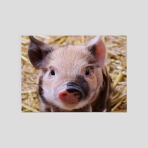 sweet little piglet 2 5'x7'Area Rug