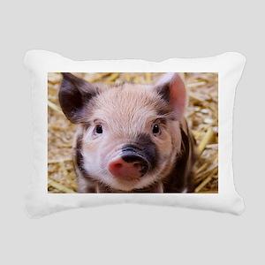 sweet little piglet 2 Rectangular Canvas Pillow