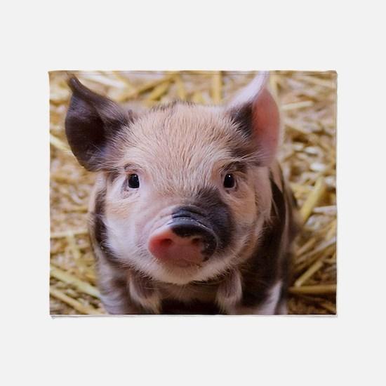 sweet little piglet 2 Throw Blanket