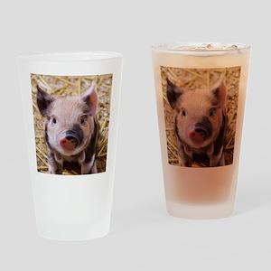 sweet little piglet 2 Drinking Glass