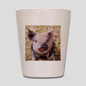 sweet little piglet 2 Shot Glass