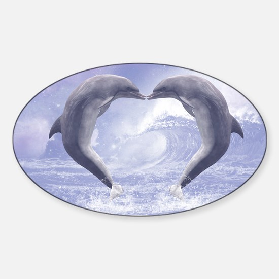 Dolphins Kisses Decal