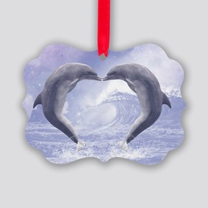 Dolphins Kisses Ornament