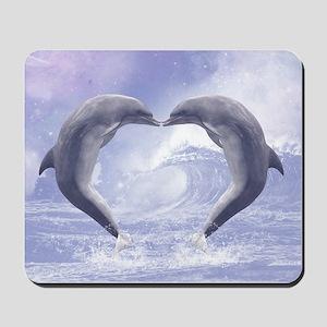 Dolphins Kisses Mousepad