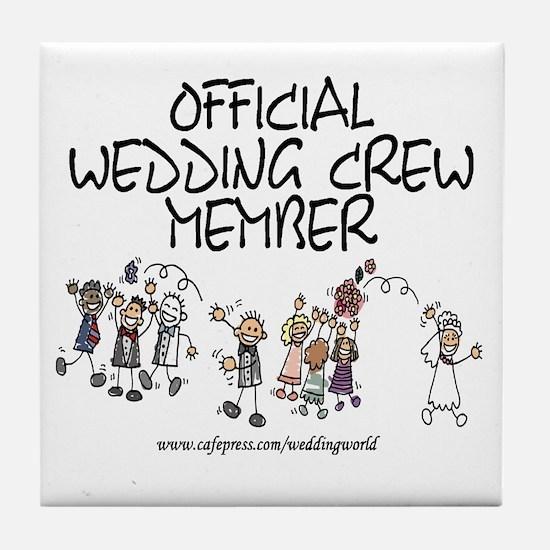 Wedding Crew Tile Coaster