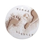 Tread Lightly Ornament (Round)