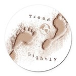 Tread Lightly Round Car Magnet