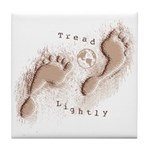 Tread Lightly Tile Coaster